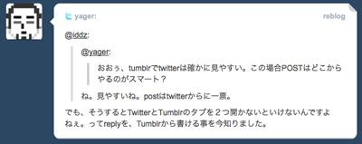 Twitter in Tumblr